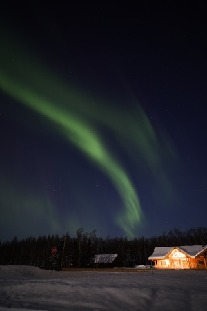 ionosphere: Northern Lights in March 2012, Alaska