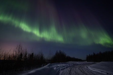 ionosphere: Strong northern lights display over Southcentral Alaska in March 2012
