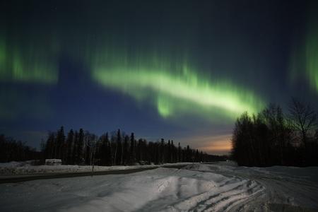 aurora borealis: Active green Aurora Borealis in Alaska Stock Photo