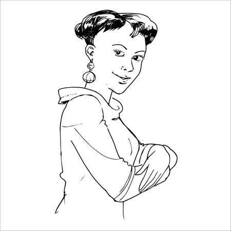 earing: African Lady Illustration