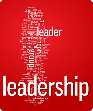 liderazgo: Ilustraci�n de nube de palabra de liderazgo. Colecci�n de etiquetas gr�ficos  Vectores