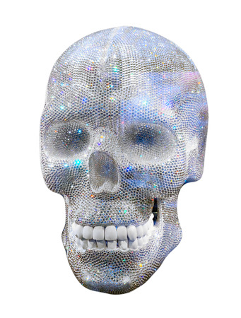diamond skull  on white background photo