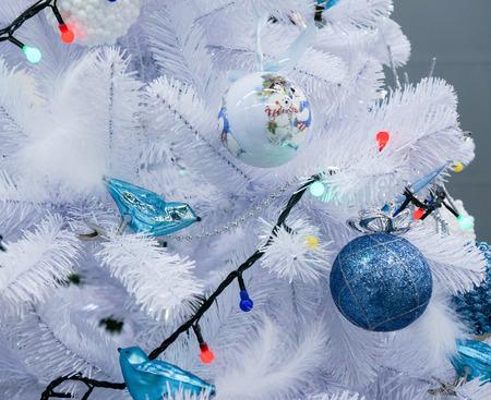 schittering: Kerstdecoratie met glanzende schittering Stockfoto