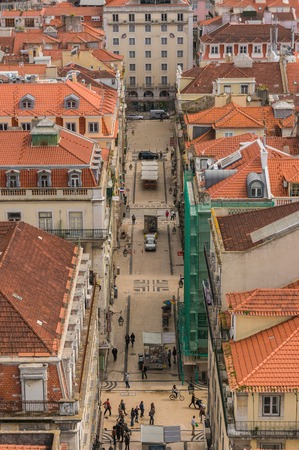 Nice houses in the old town of Lisbon, Portugal photo