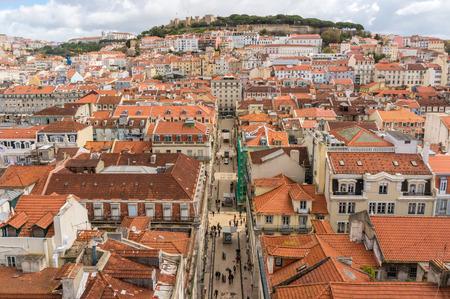 mirador: View from Mirador de Santa Lucia, Lisbon, Portugal Stock Photo