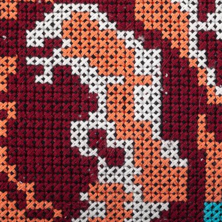 knitted background. texture-knitted-pig tail photo