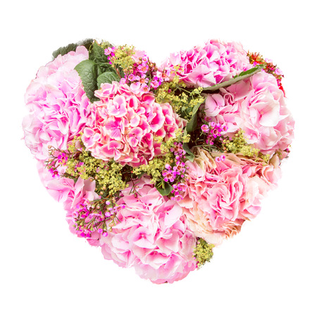 summers: Isolated Summers flowers heart floral bouquet