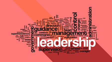 followers: Concetto di leadership in parola collage