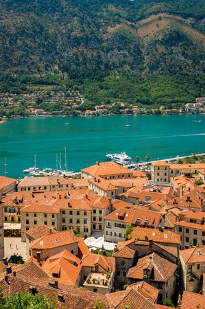 Kotor Bay and Old Town view, Montenegro photo