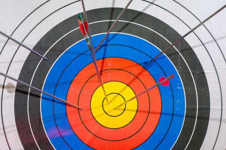 missed: arrows missed target. concept of fail-diligent.