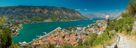 kotor: view of kotor bay on sunny day, Kotor, Montenegro