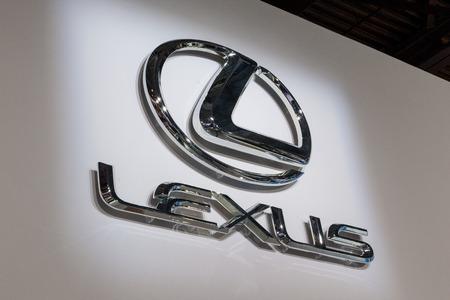lexus: MOSCOW, RUSSIA - SEPTEMBER 04, 2012: Emblem of Lexus. Editorial