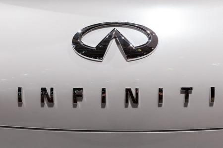 infiniti: MOSCOW, RUSSIA - SEPTEMBER 04, 2012: Emblem of Infiniti.