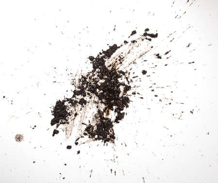 mud: Texture land in white background. Stock Photo