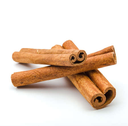 stick of cinnamon: Cinnamon sticks  isolated on white background.