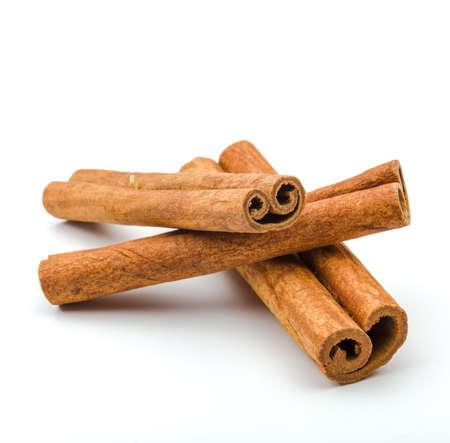 stick: Cinnamon sticks  isolated on white background.