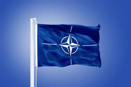 nato: The flag of the North Atlantic Treaty Organization NATO.