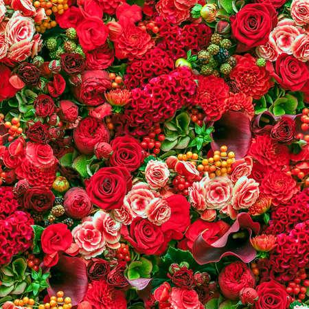 bouquet fleur: R�sum� de fond de fleurs. Gros plan.