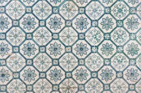 Azulejo portuguese ceramic tiles background. Stock Photo