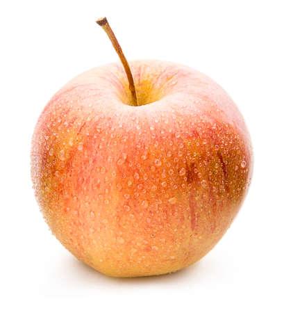 apfel: Reifer Apfel auf einem weißen Hintergrund.
