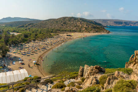 palmtrees: Vai palmtrees bay and beach at Crete island in Greece