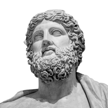 The ancient marble portrait bust. Stock Photo