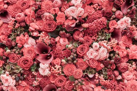jardines con flores: Resumen de antecedentes de flores Primer plano.