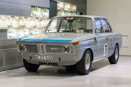 museum rally: Munich, Germany - March 10, 2016: BMW Museum.