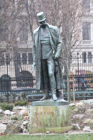 franz josef: Statue of emperor Franz Josef of Austria in Vienna