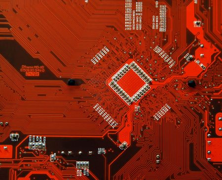 Printed circuit board - computer motherboard photo