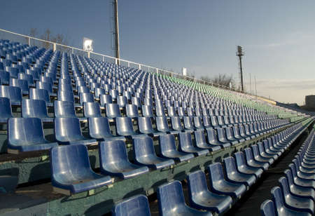 row of an empty seats and blue sky Stock Photo - 2234953