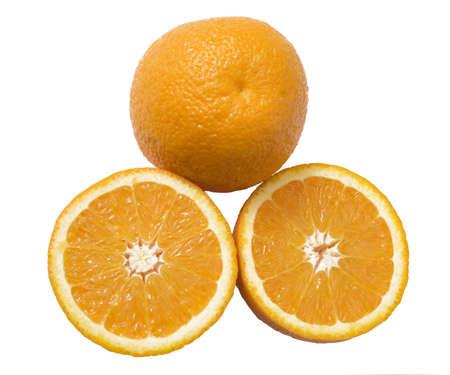 horisontal: oranges isolated over white background