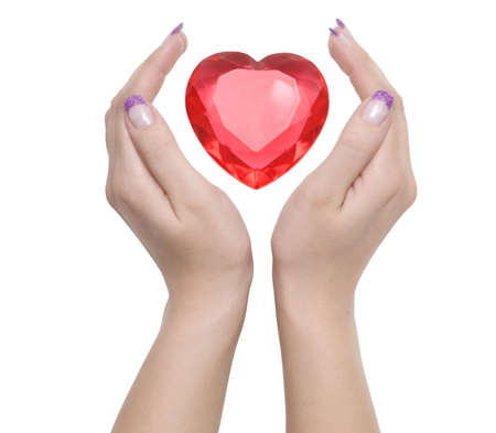 heart between two female hands Stock Photo - 2455110