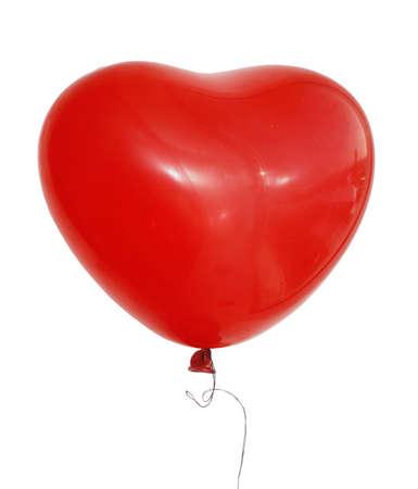 rode ballon geïsoleerde over witte achtergrond