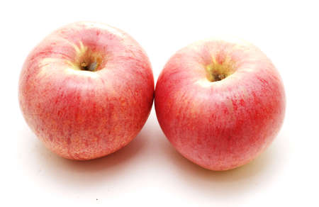 two apples isolated over white background photo