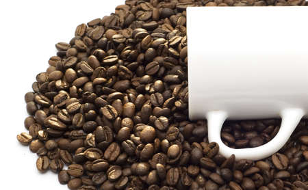 cup and coffee beans Stock Photo - 2546316