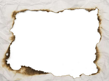 old burnt wrinkled paper background