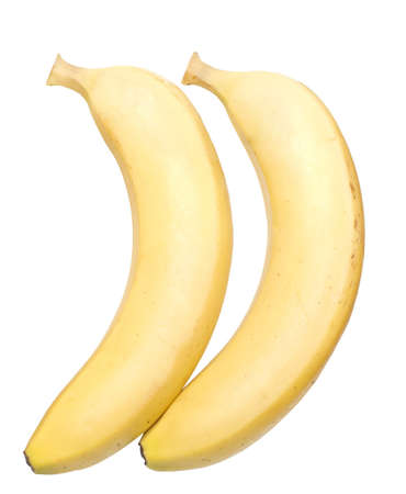 two bananas isolated over white background photo