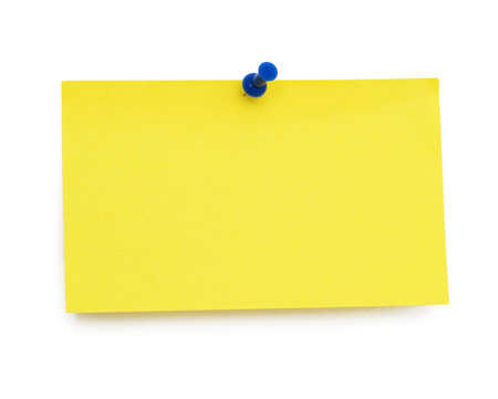 empty yellow blank isolated over white background photo