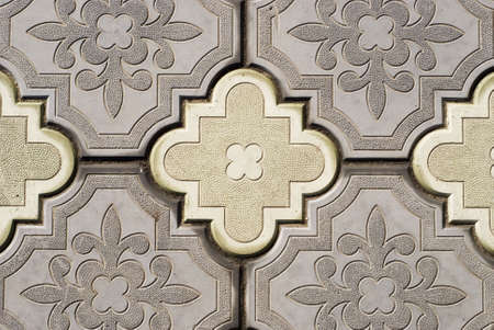 image of ornate pavement on a road photo