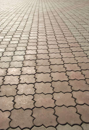 image of paving stones on a road Stock Photo
