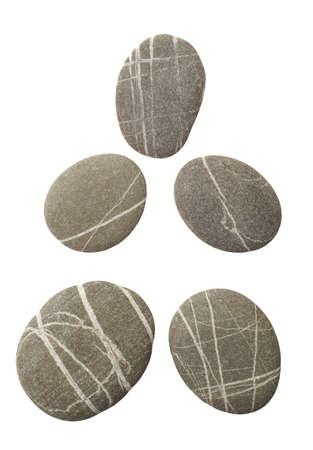 stones isolated on white background photo