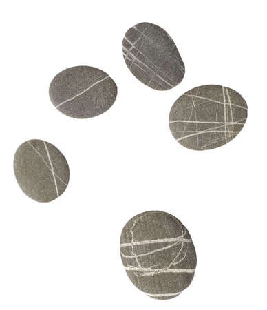 pebbles isolated on white background photo