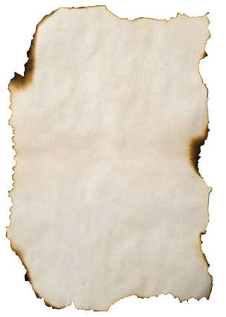 gebrannt: Bild von verbranntem Papier f�r den Hintergrund