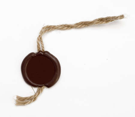 wax seal on white background photo