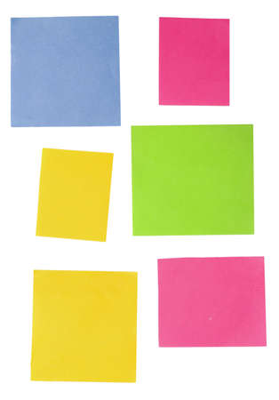 color empty notes isolated over white photo