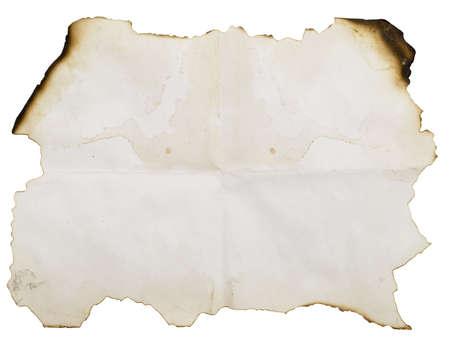 isolated on white yanmış kağıt Stok Fotoğraf - 3119224
