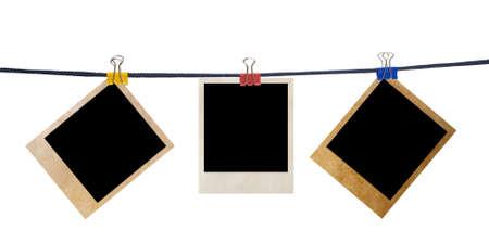 grunge foto frames geïsoleerd op wit