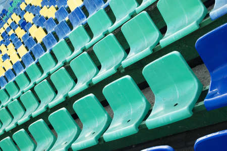 row of an colored seats photo