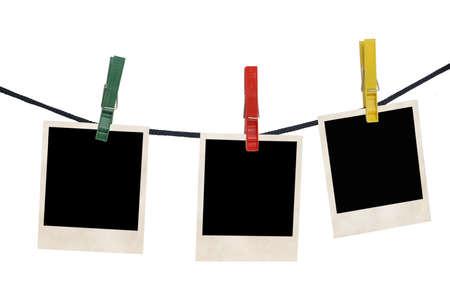 Film-Rohlinge in einem Seil isoliert auf weißem